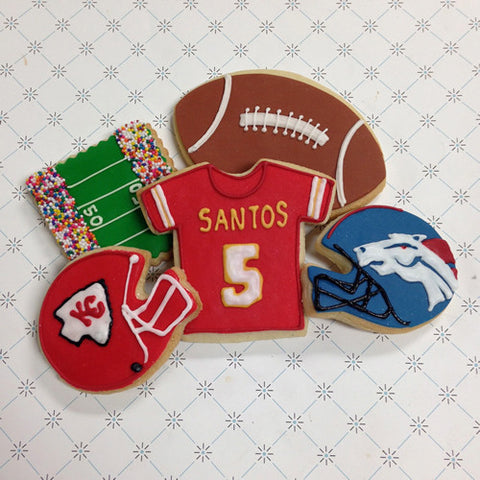 Football Helmet Cookie Favor