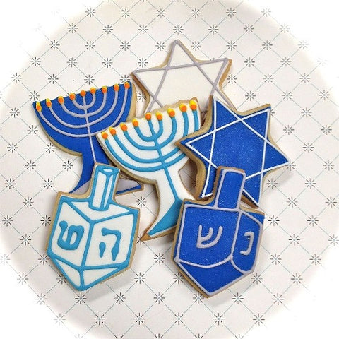 Hanukkah Themes Cookie Favor