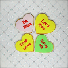 BOXED Conversation Heart Cookie Mix