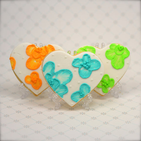 Embroidered Heart Cookie Favor