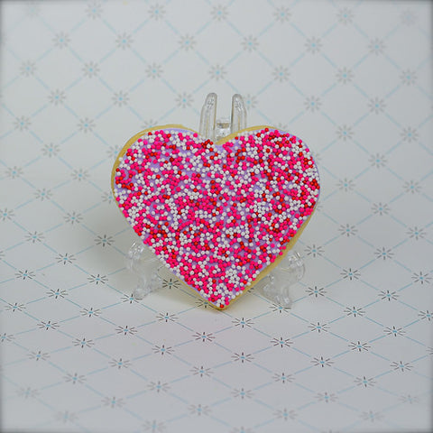 Sprinkly Heart Cookie Favor