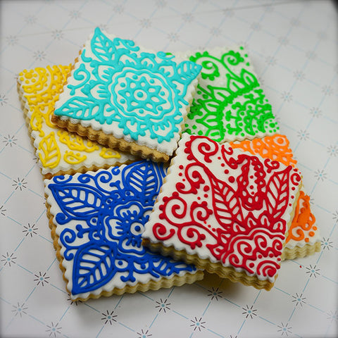 Henna Scroll Cookie Favor