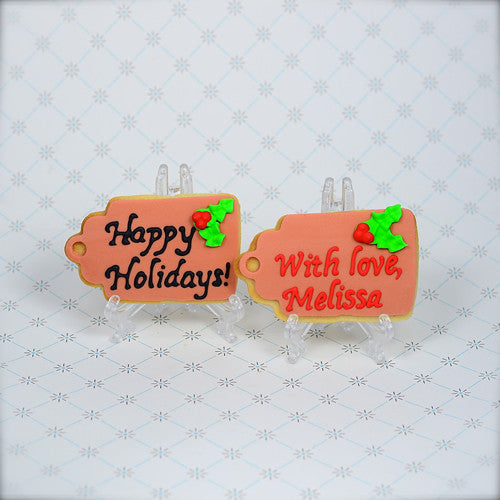 Holiday Tag Cookie Favor