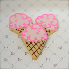 Ice Cream Cone Cookie Favor