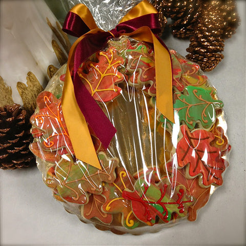 "Fall Leaf ""Wreath"" Platter"
