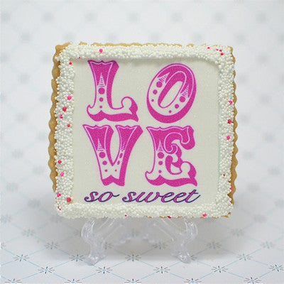 """Love So Sweet"" Cookie Favor"