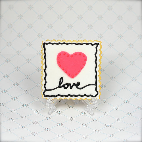 Love Stamp Cookie Favor