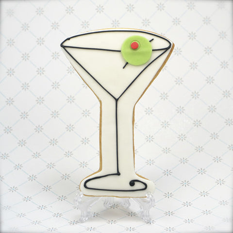 Martini Glass Cookie Favor