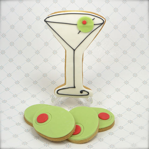 Martini Olive Cookie Favor