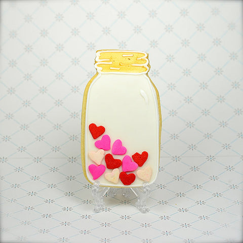Valentine's Day Mason Jar Cookie Favor