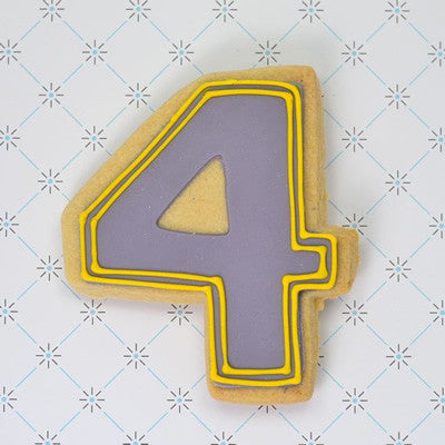 Number Four Cookie Favor