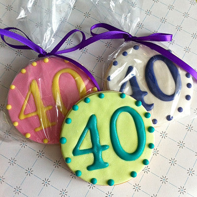 Milestone Birthday Cookie Favor
