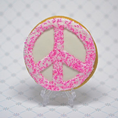 Peace Sign Cookie Favor