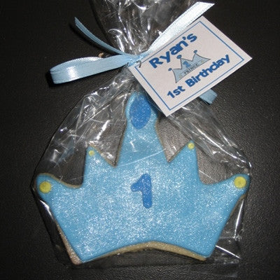 Prince Crown Cookie Favor