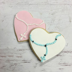 Rosary Heart Cookie Favor