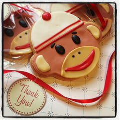 Sock Monkey (Face) Cookie Favor