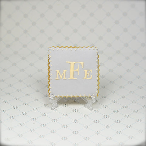 Monogram (Square) Cookie Favor