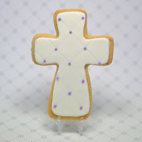 Quilted Cross Cookie Favor