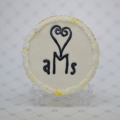 Monogram (Round) Cookie Favor