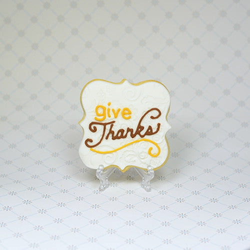 Thanksgiving Plaque Cookie Favor