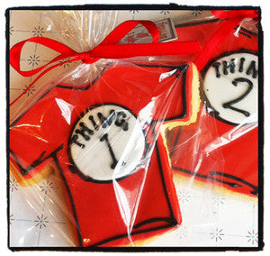 Thing 1 & 2 Shirt Cookie Favor