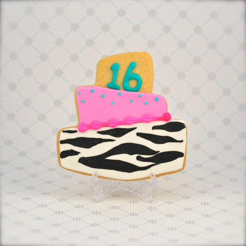 Topsy Turvy Birthday Cake Cookie Favor