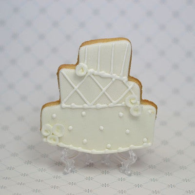 Topsy Turvy Wedding Cake Cookie Favor