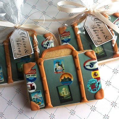 Traveling Suitcase Cookie Favor