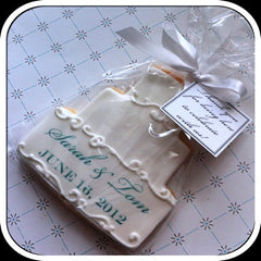 Wedding Cake Printed Cookie Favor
