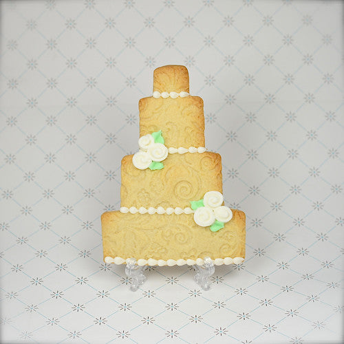 """Naked"" Wedding Cake (4 tier) Cookie Favor"