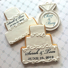 Engagement Ring Cookie Favor