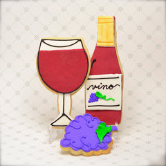 Wine Glass Cookie Favor