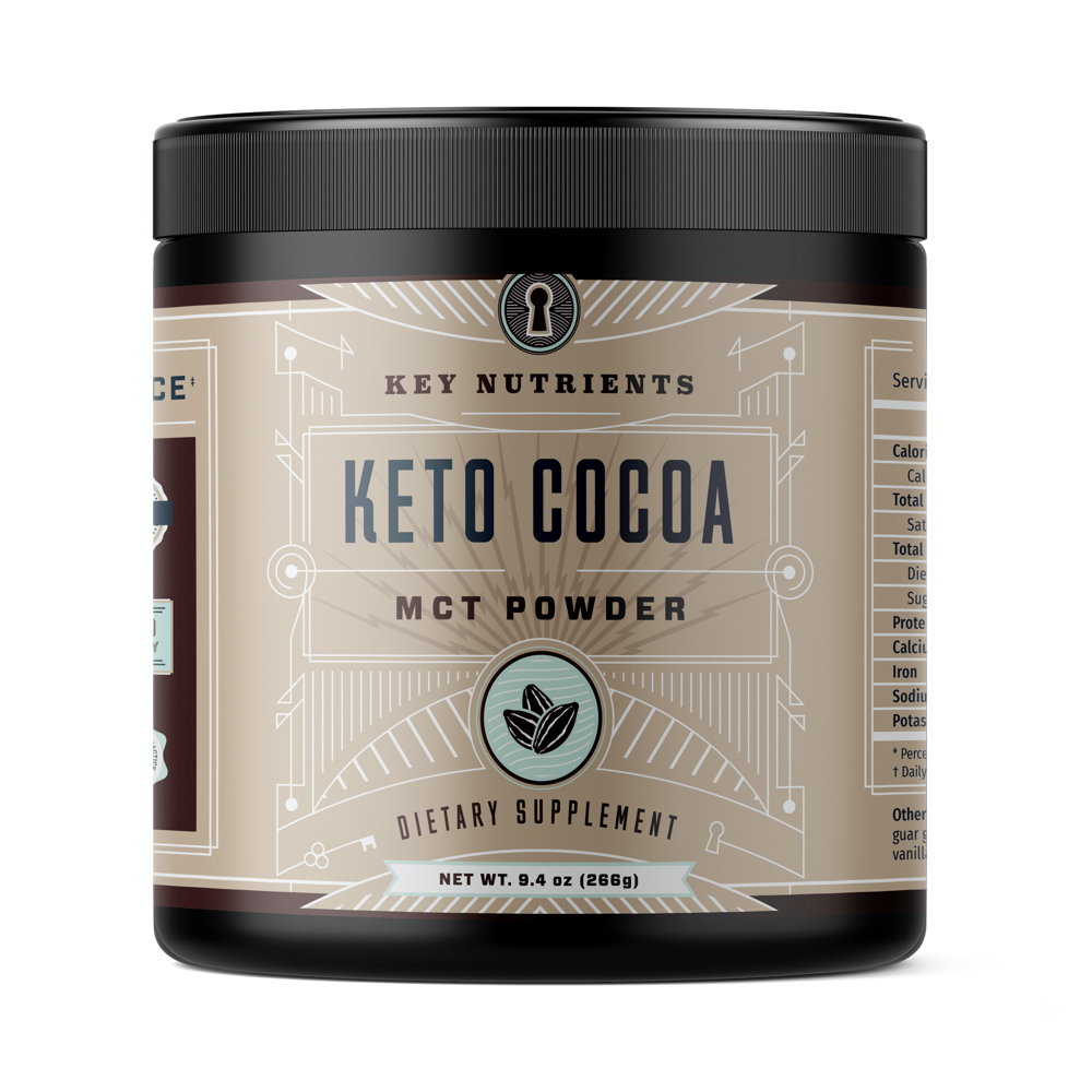 Keto Cocoa, Keto Hot Chocolate: MCT Oil Powder