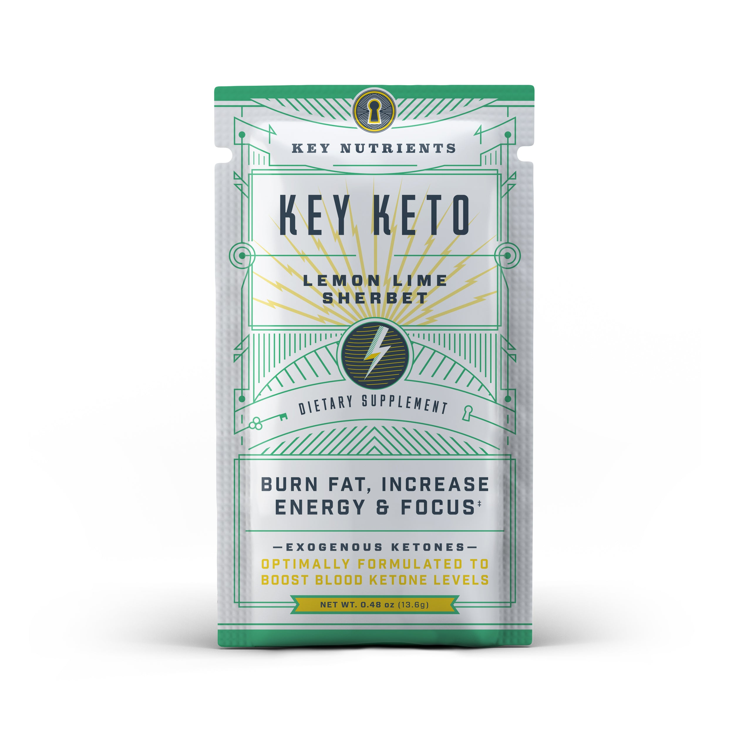 Key Keto - Lemon Lime Sherbet Travel Pouch