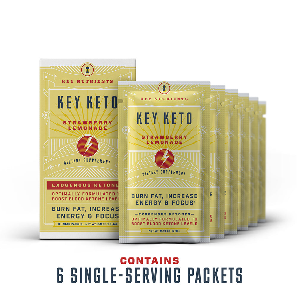 Key Keto - Strawberry Lemonade Travel Pouches - 6 Pack