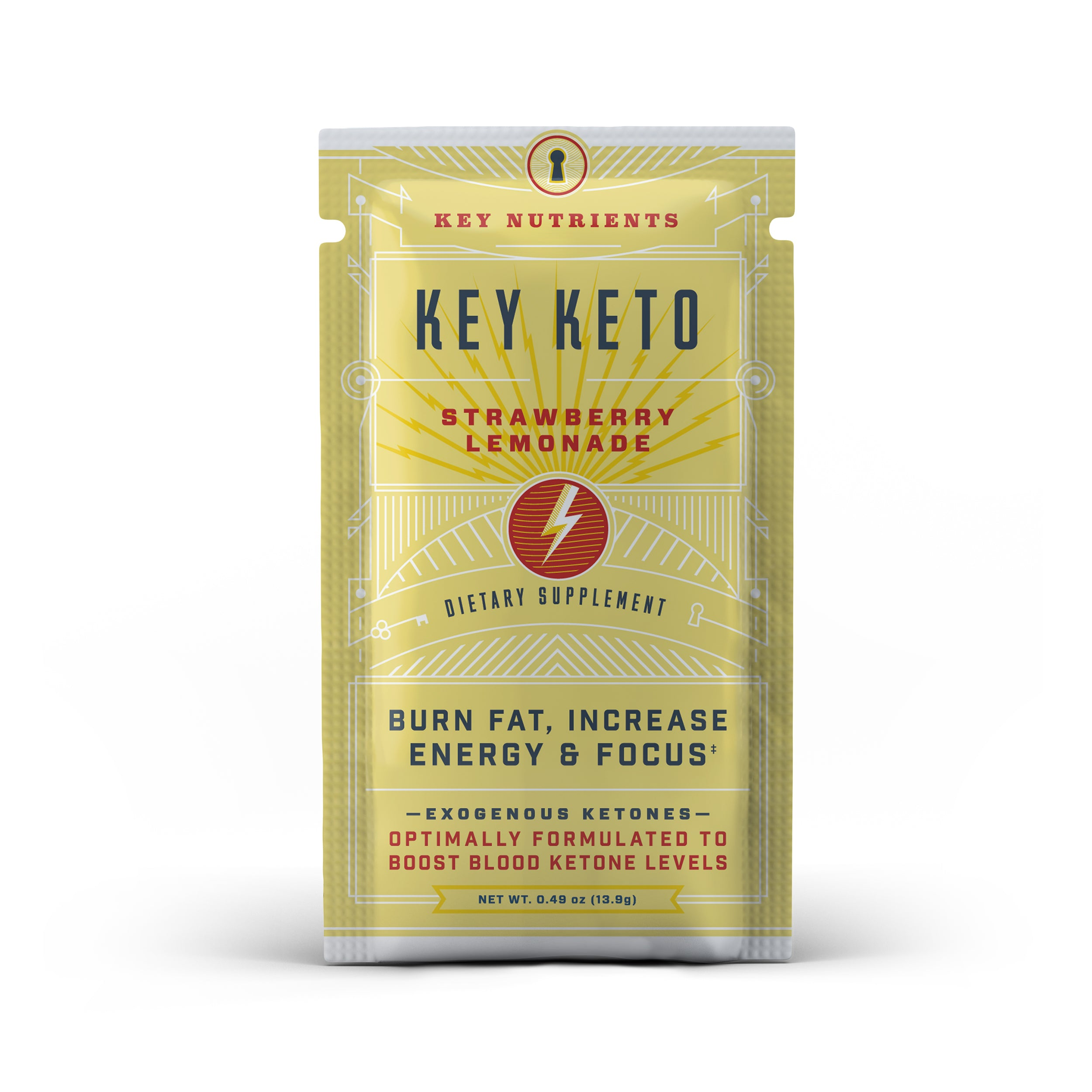 Key Keto Packets - Strawberry Lemonade Travel Pouch