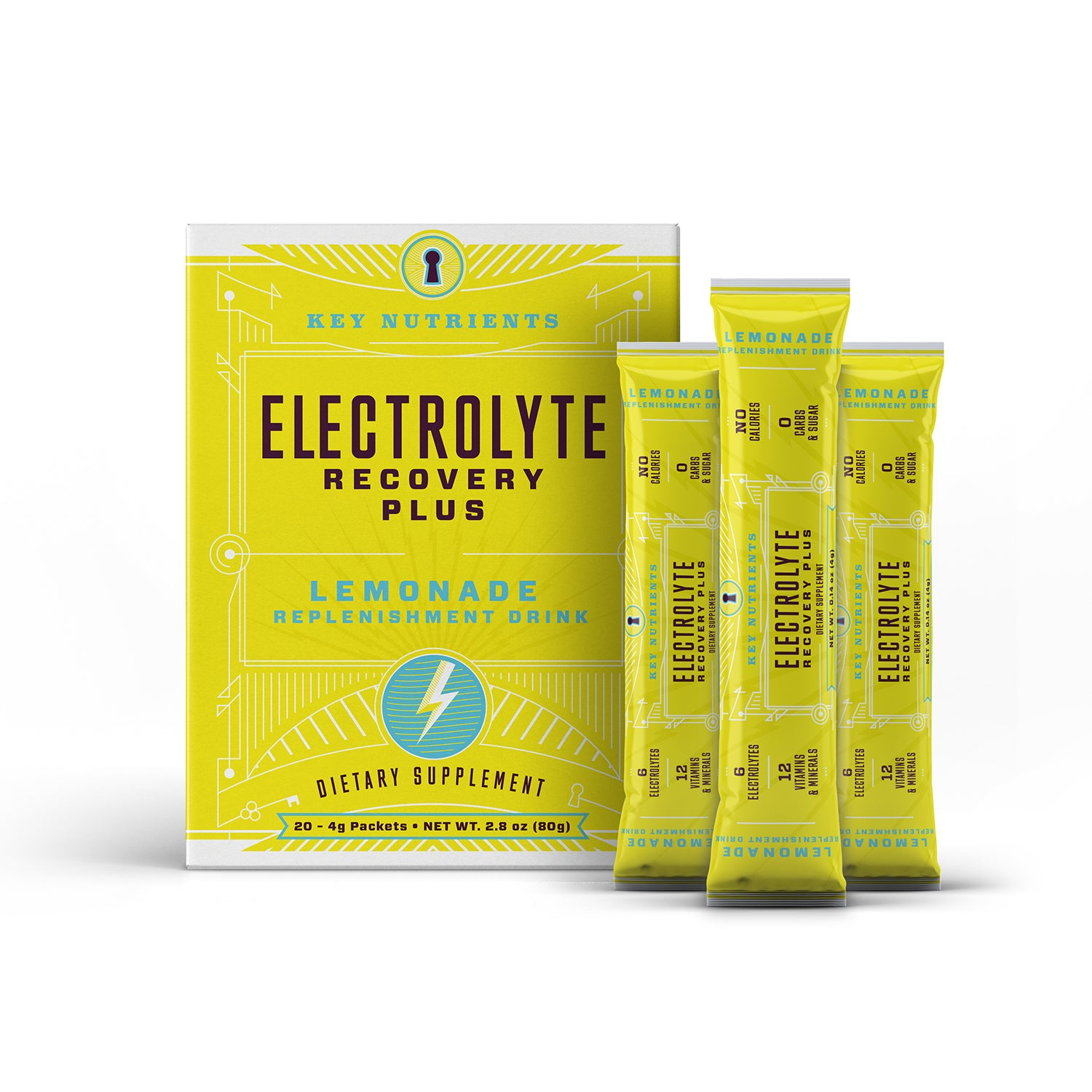 Electrolyte Recovery Plus - Lemonade Travel Packets - Pack of 20