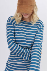Renata Top Striped Ligth Blue