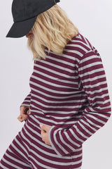 Renata Top Striped Cherry