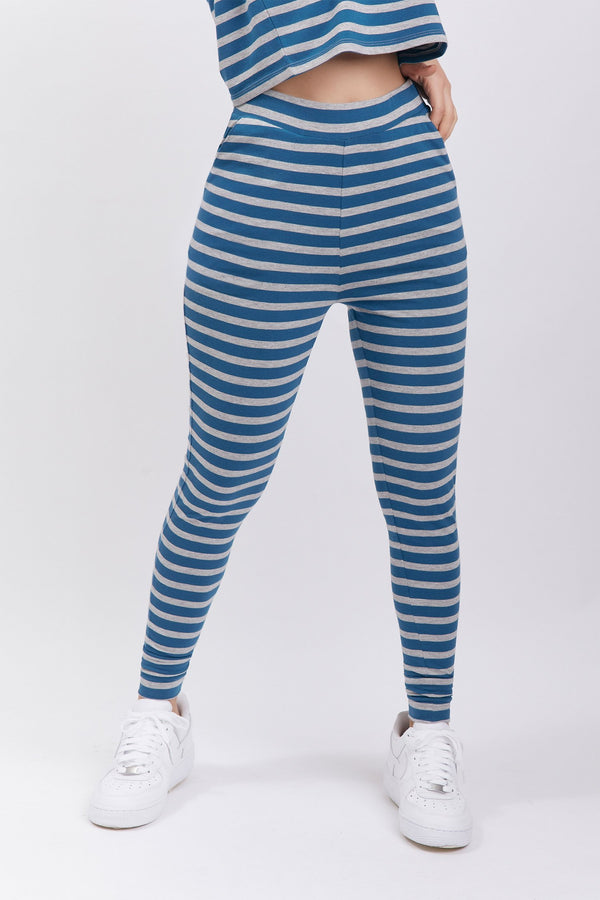 Renata Pant Striped Ligth Blue