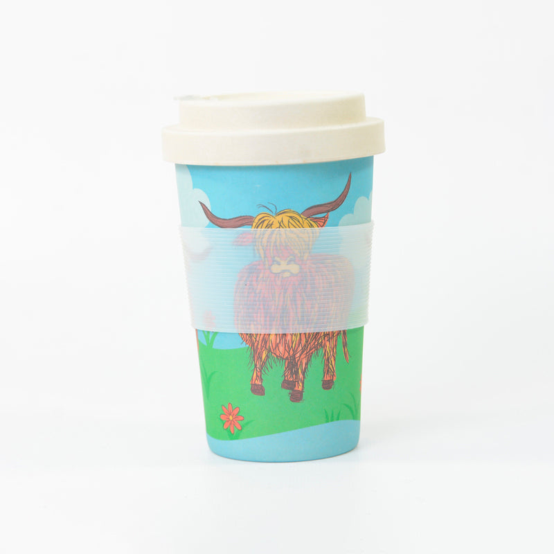 Bamboo Cup -  Highland Cows