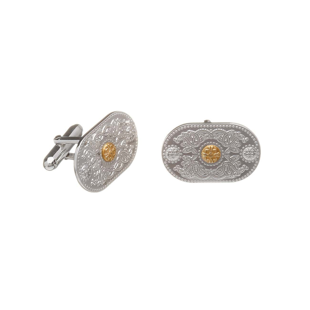Arda Men's Cuff Links 10 Carat Rare Irish Gold (20 mm)