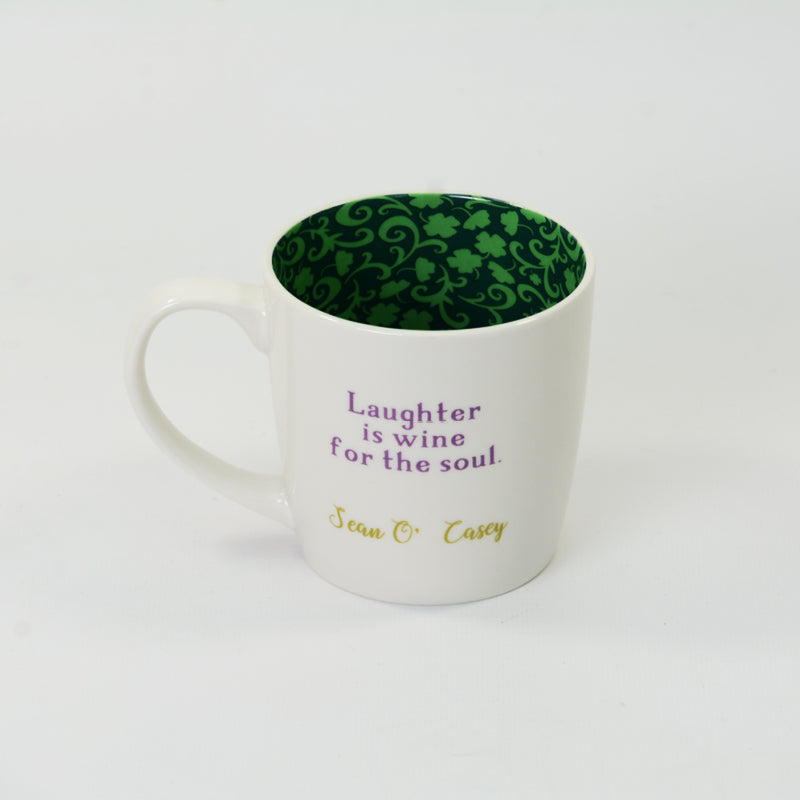 "Writers Mug - ""Laughter is wine for the soul"
