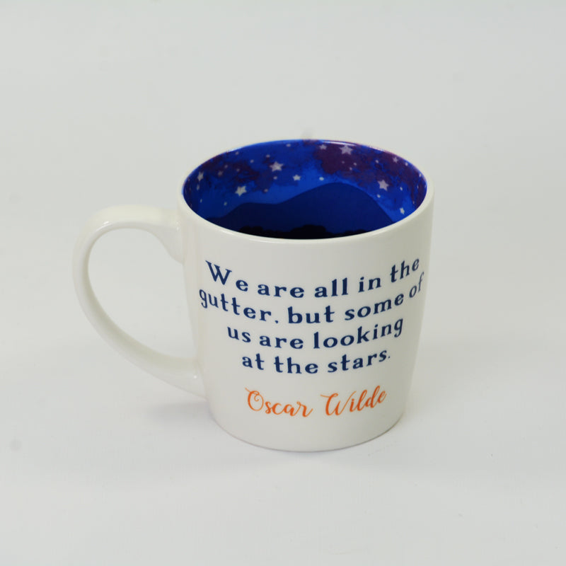 "Writers Mug - ""We are all in the gutter, but some of us are looking at the stars"" Oscar Wilde"