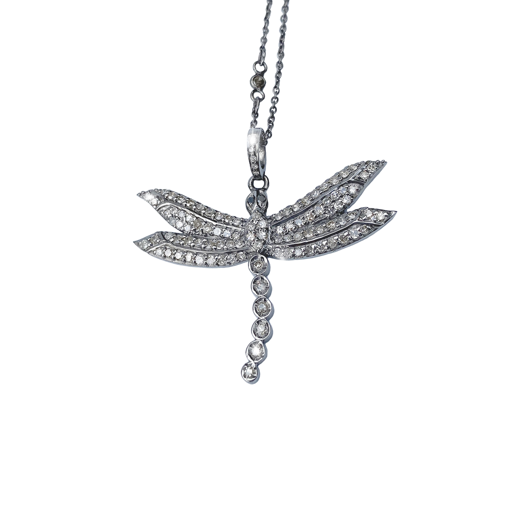 Diamond Dragonfly Necklace