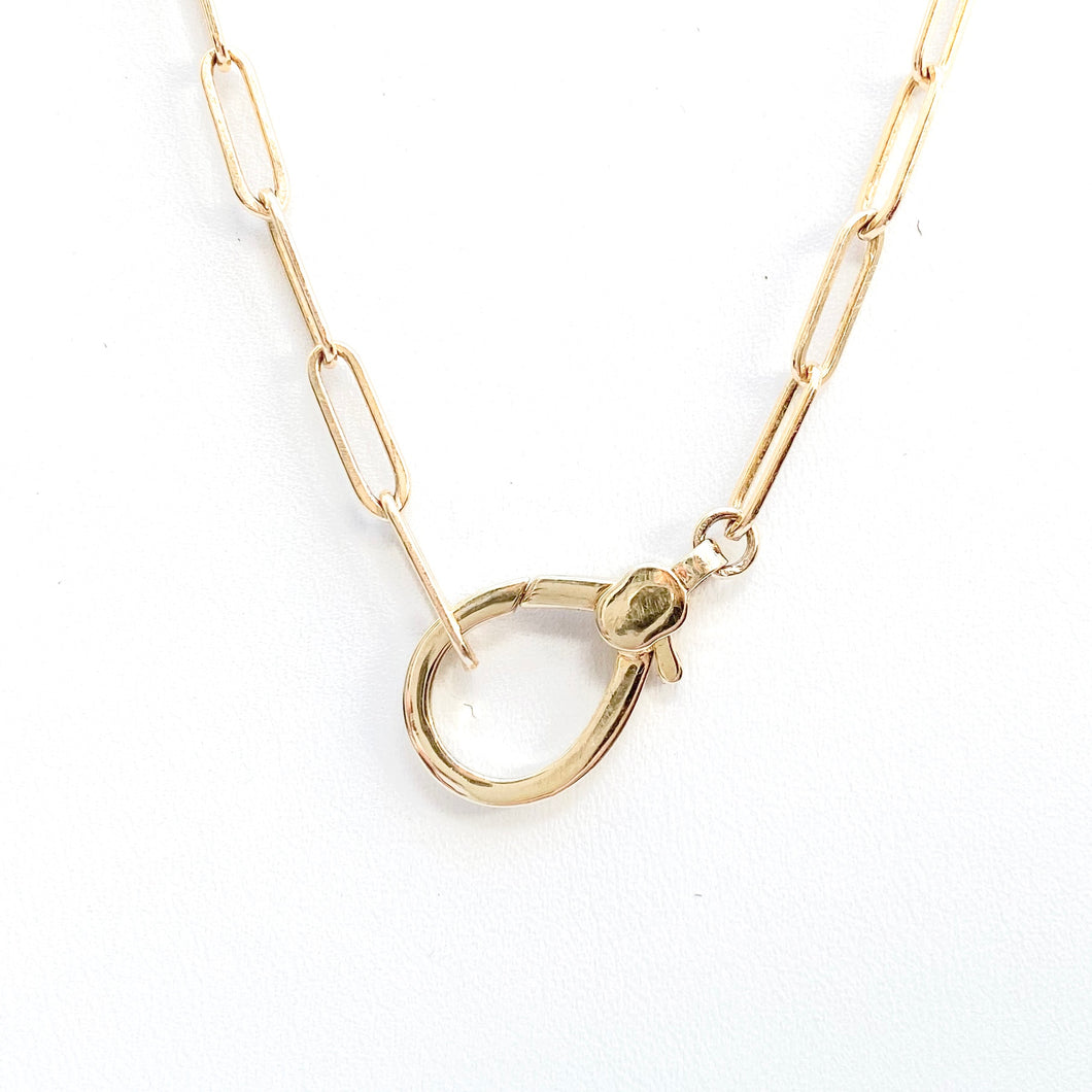 14kg Filled Paperclip Chain Necklace with Lobster Clasp