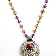 Load image into Gallery viewer, Buddha Pendant on Sapphire Chain