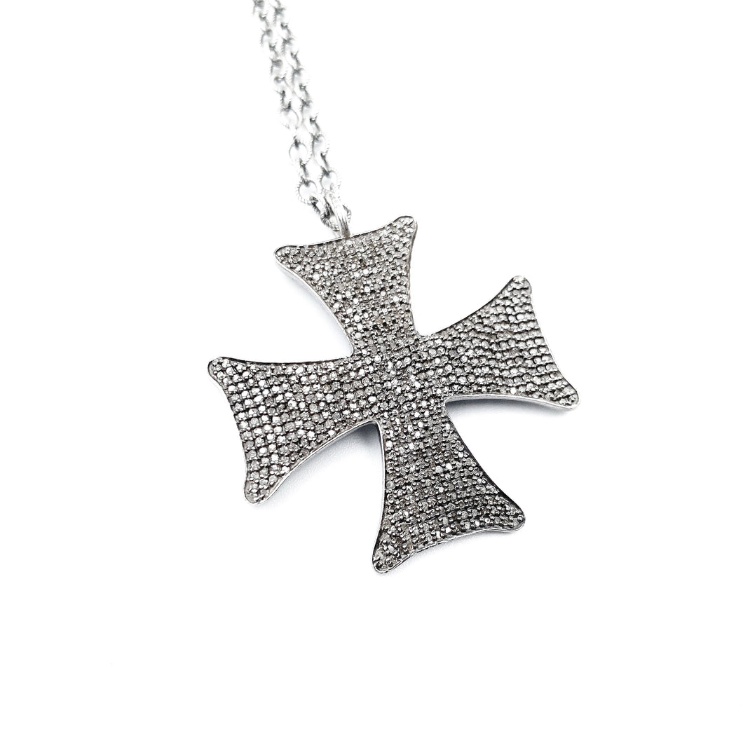 Diamond Maltese Cross Medium
