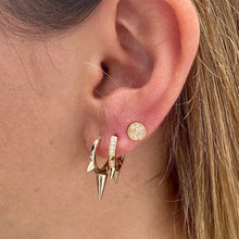 Load image into Gallery viewer, Gold Spike Hoop Earrings