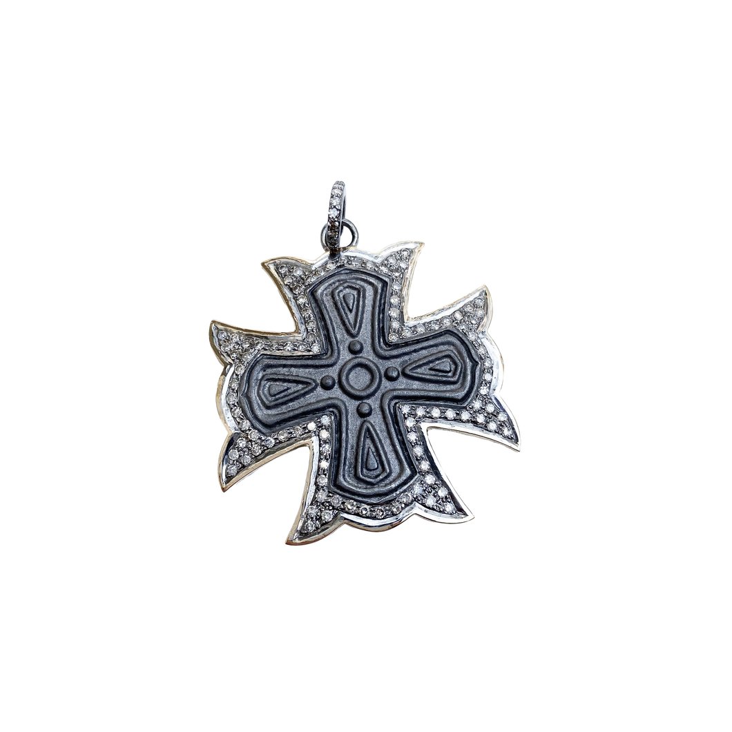 14kg and Diamond Cross Pendant